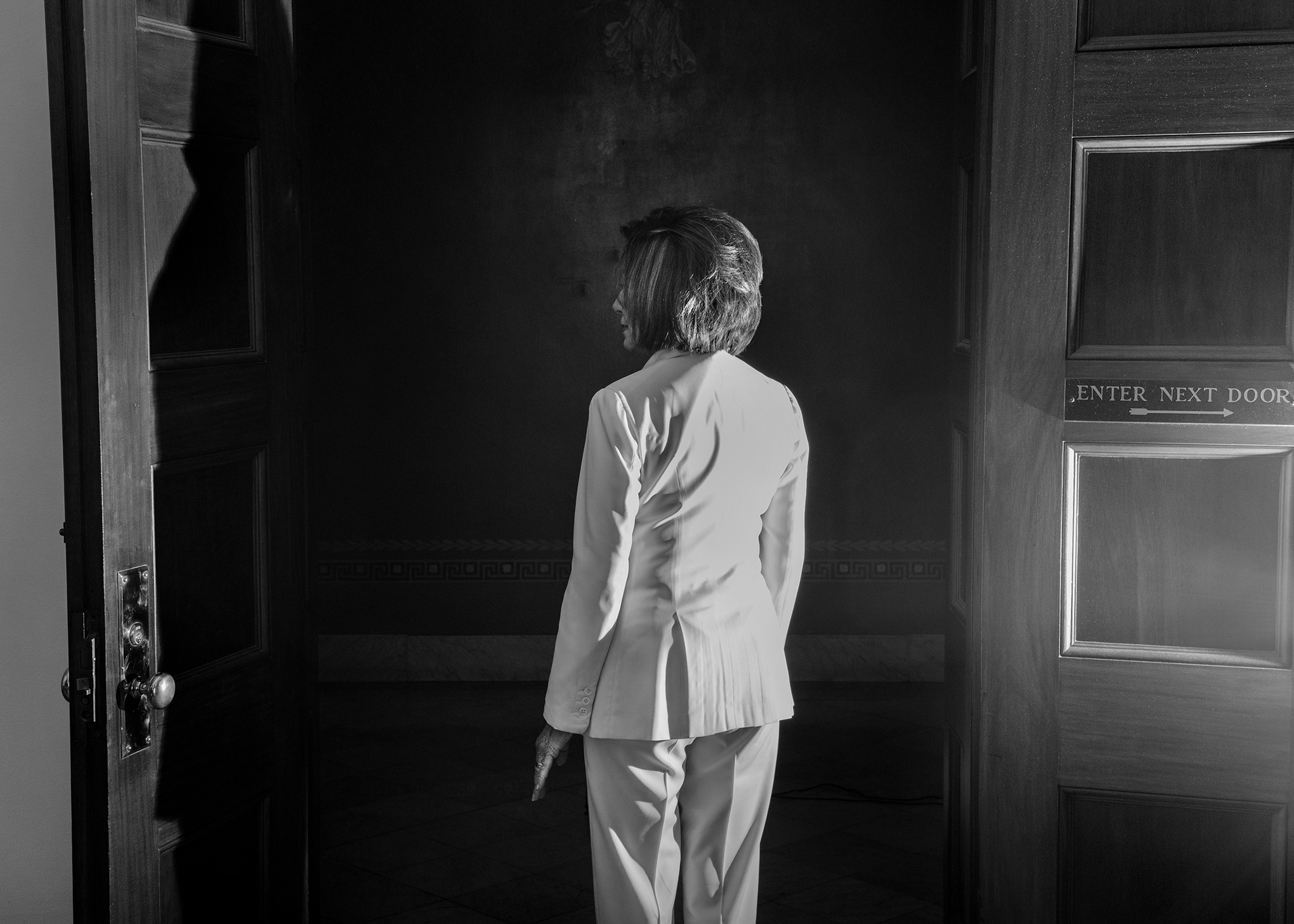 House Speaker Nancy Pelosi, photographed at the Capitol on Dec. 5, 2019, staked the 2020 elections on impeachment.  No one is above the law,  she said.