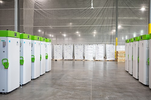 Rows of the Ultracold Freezers used to store the COVID-19 Vaccine