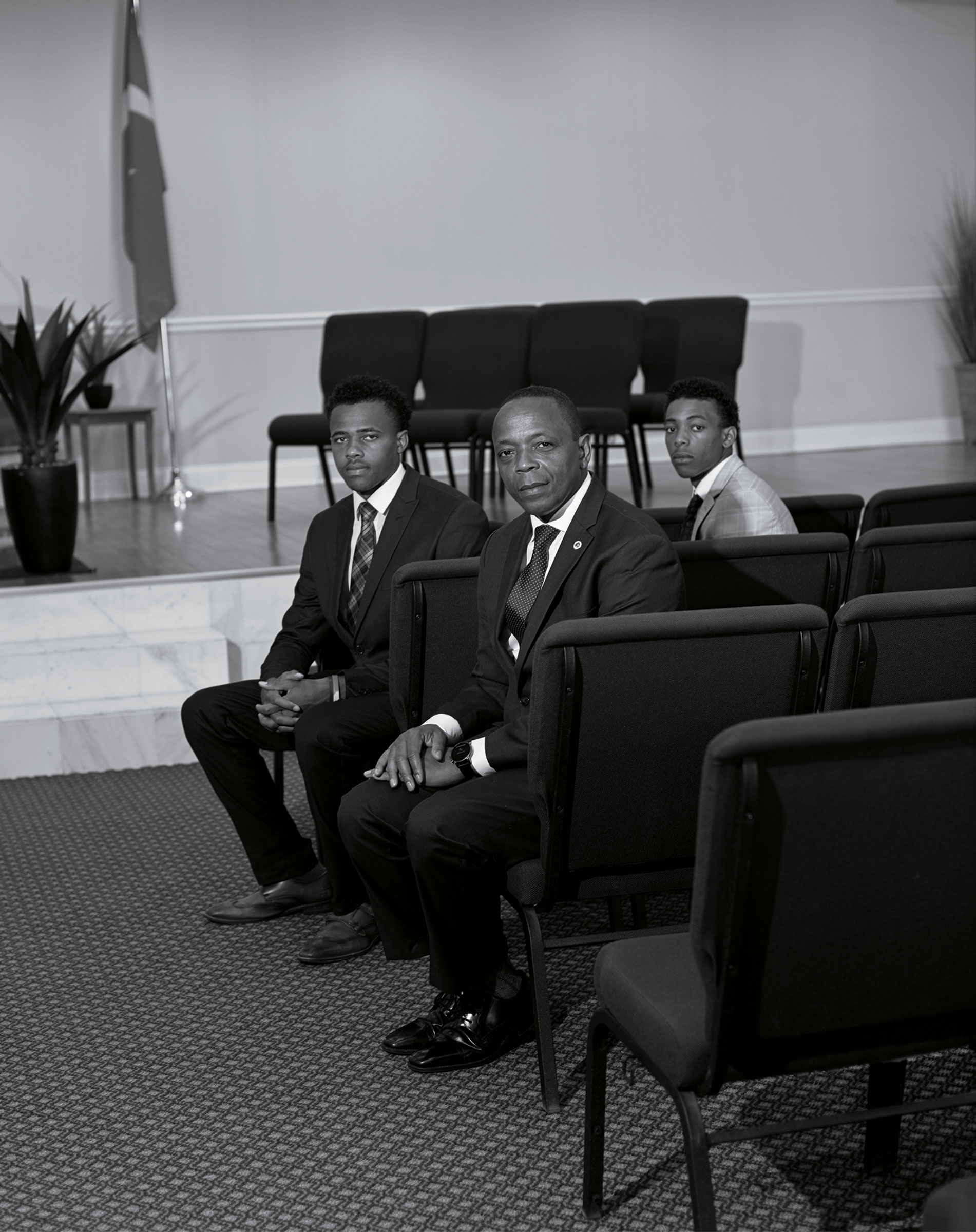 Wasim Muhammad and his sons Nafi and Haafiz.  It's Time to Radically Rethink Public Safety in America,  Aug. 17 issue.