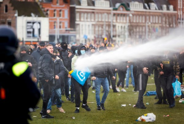 Dutch Police Clash With Anti-Lockdown Protesters   Time