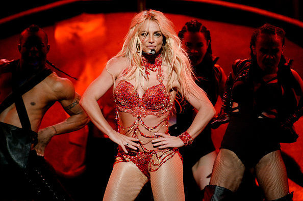 Britney Spears performs onstage during the 2016 Billboard Music Awards at T-Mobile Arena in Las Vegas, Nevada on May 22, 2016.