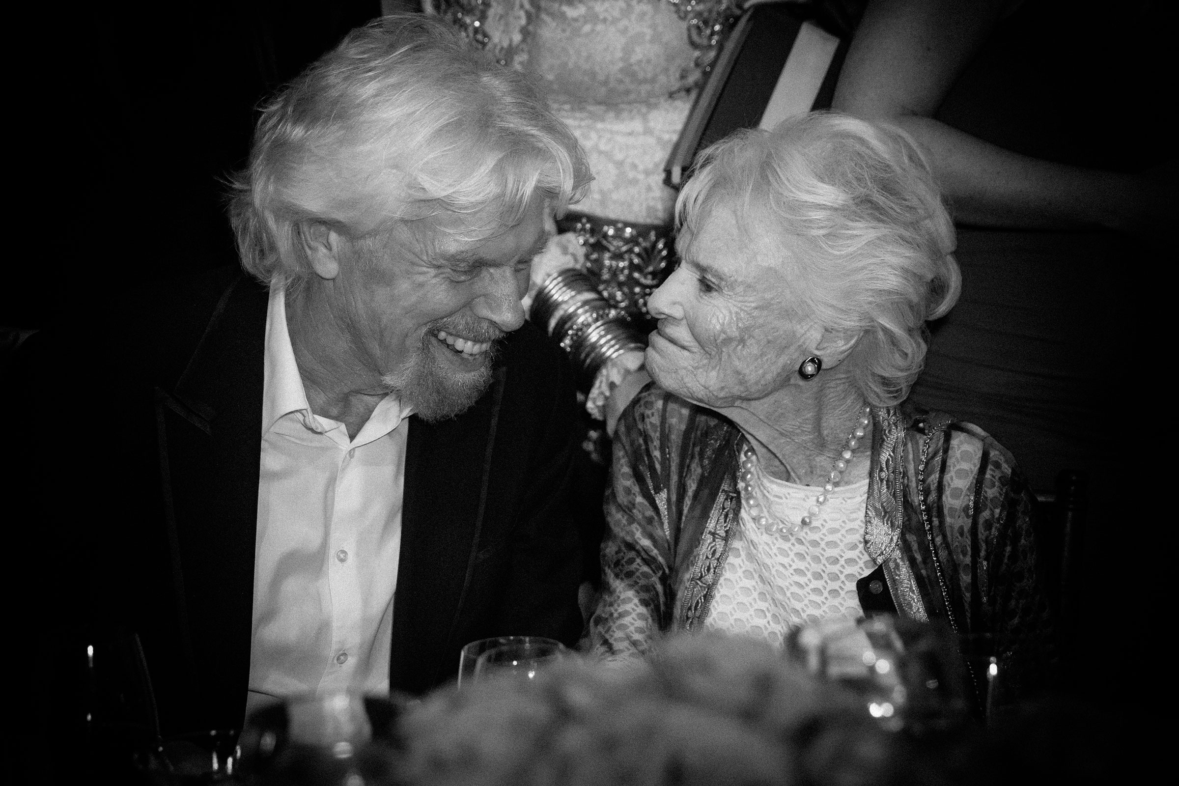 Sir Richard Branson and his mother Eve Branson on May 12, 2016.
