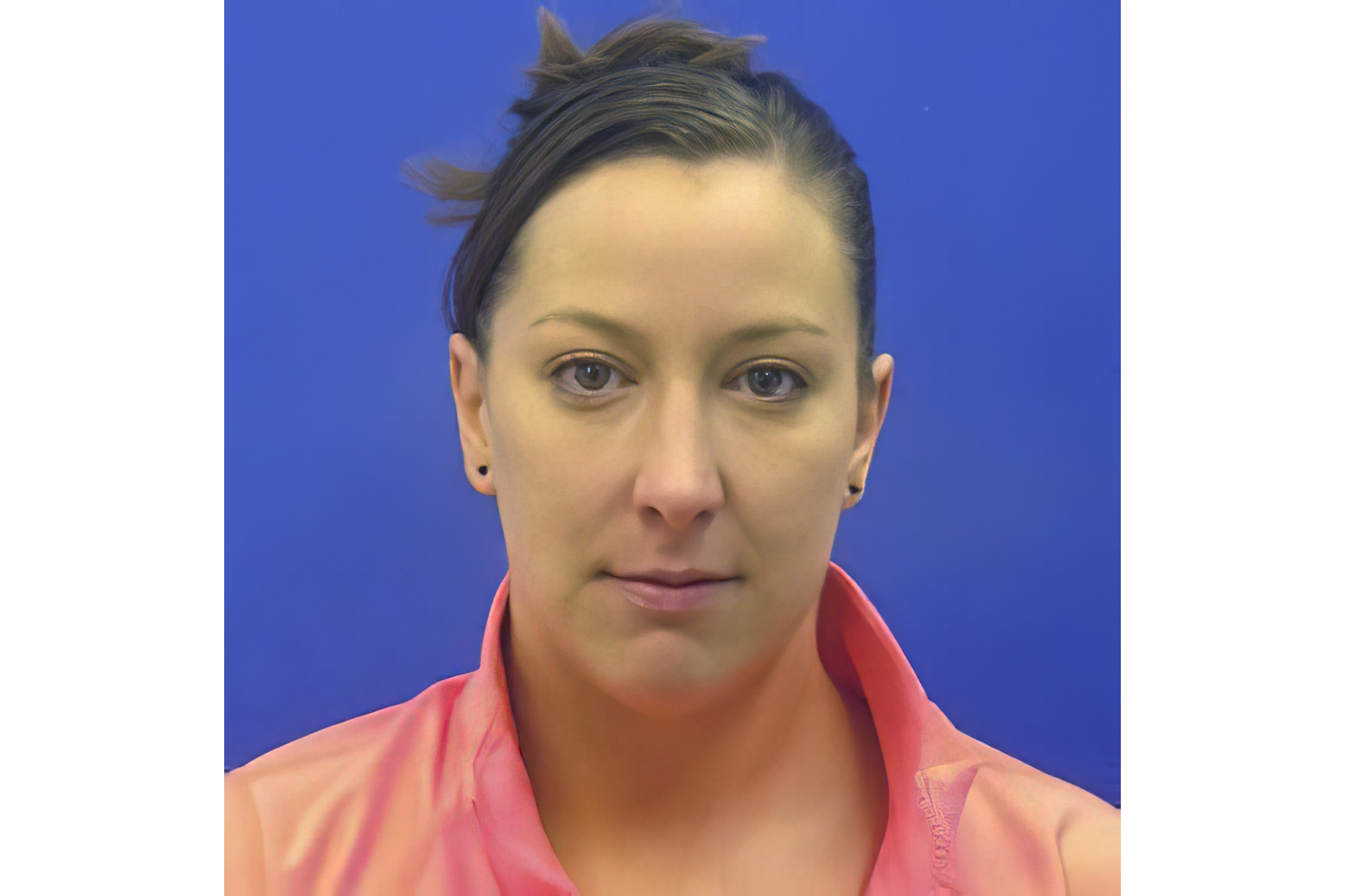 This driver's license photo from the Maryland Motor Vehicle Administration (MVA), provided to AP by the Calvert County Sheriff's Office, shows Ashli Babbitt.