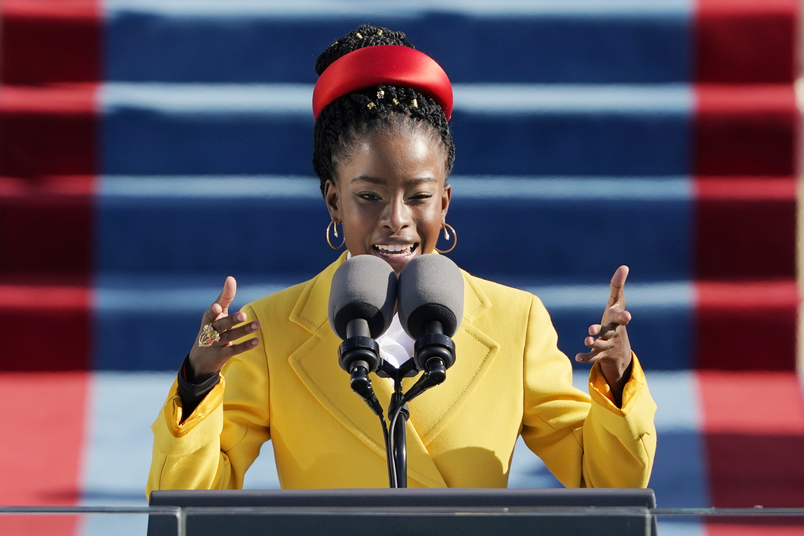 National Youth Poet Laureate Amanda Gorman delivered a stirring performance during Biden's inauguration