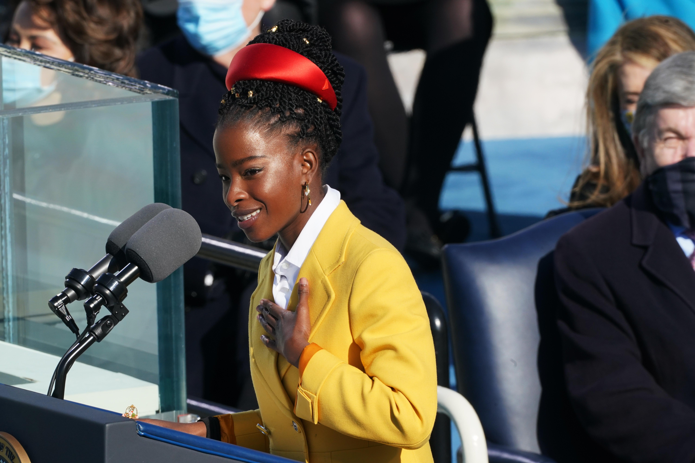 Amanda Gorman, delivers a poem during the inauguration of President Joe Biden in Washington, D.C. on Jan 20.