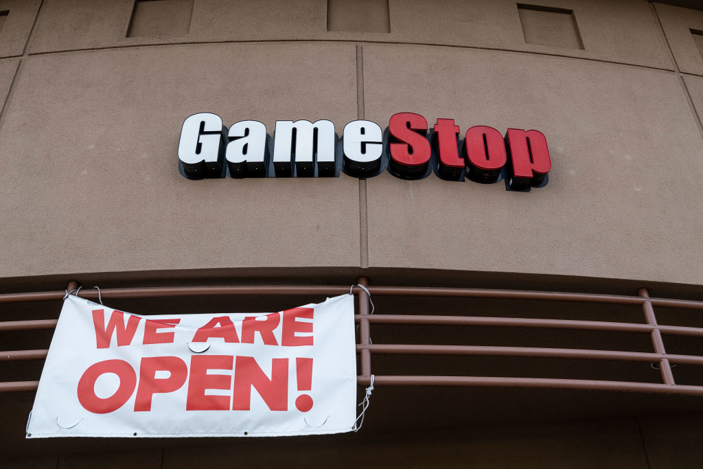 A GameStop store in San Pablo, California on Jan. 27, 2021.