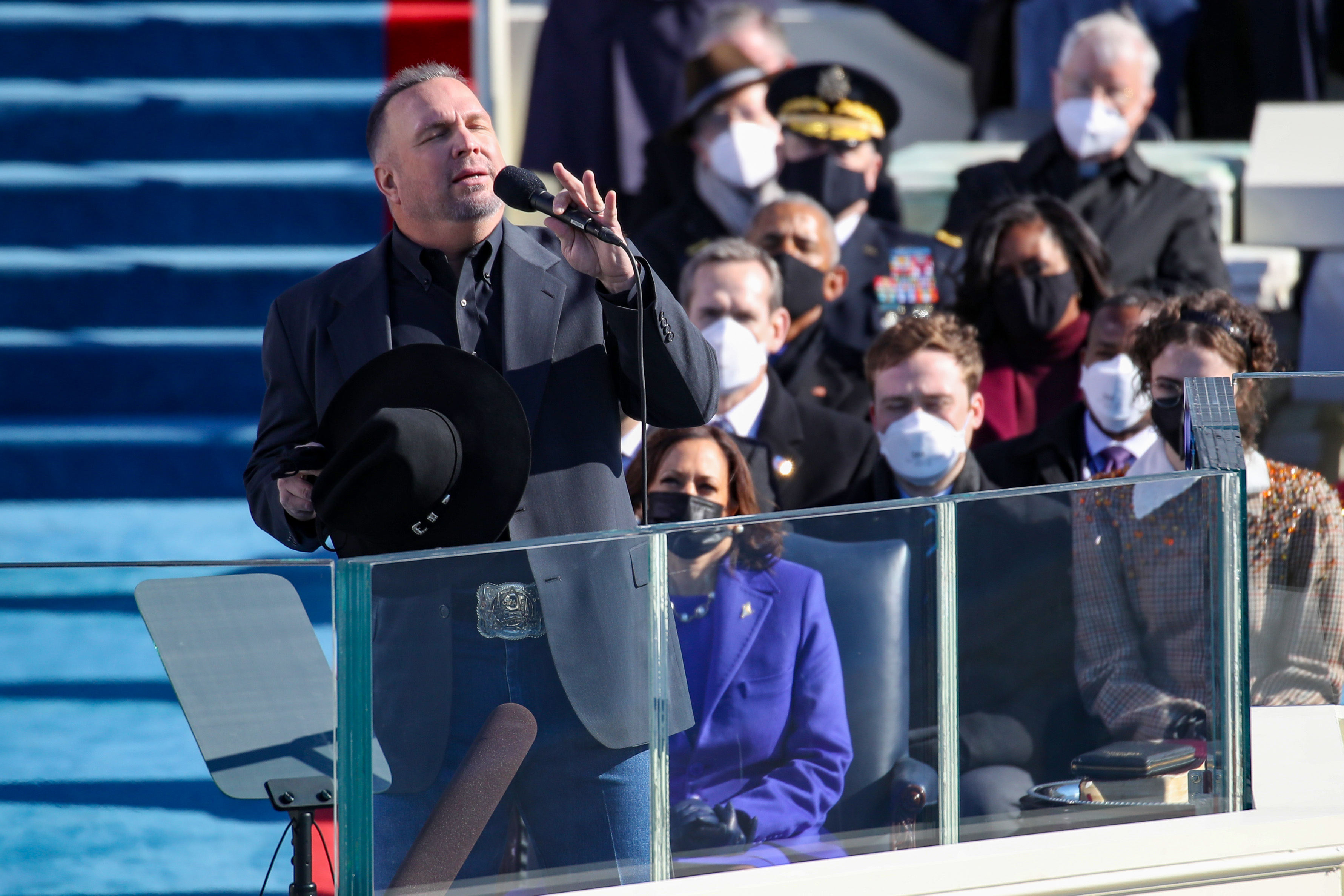 Garth Brooks performs  Amazing Grace  at President Joe Biden's inauguration.