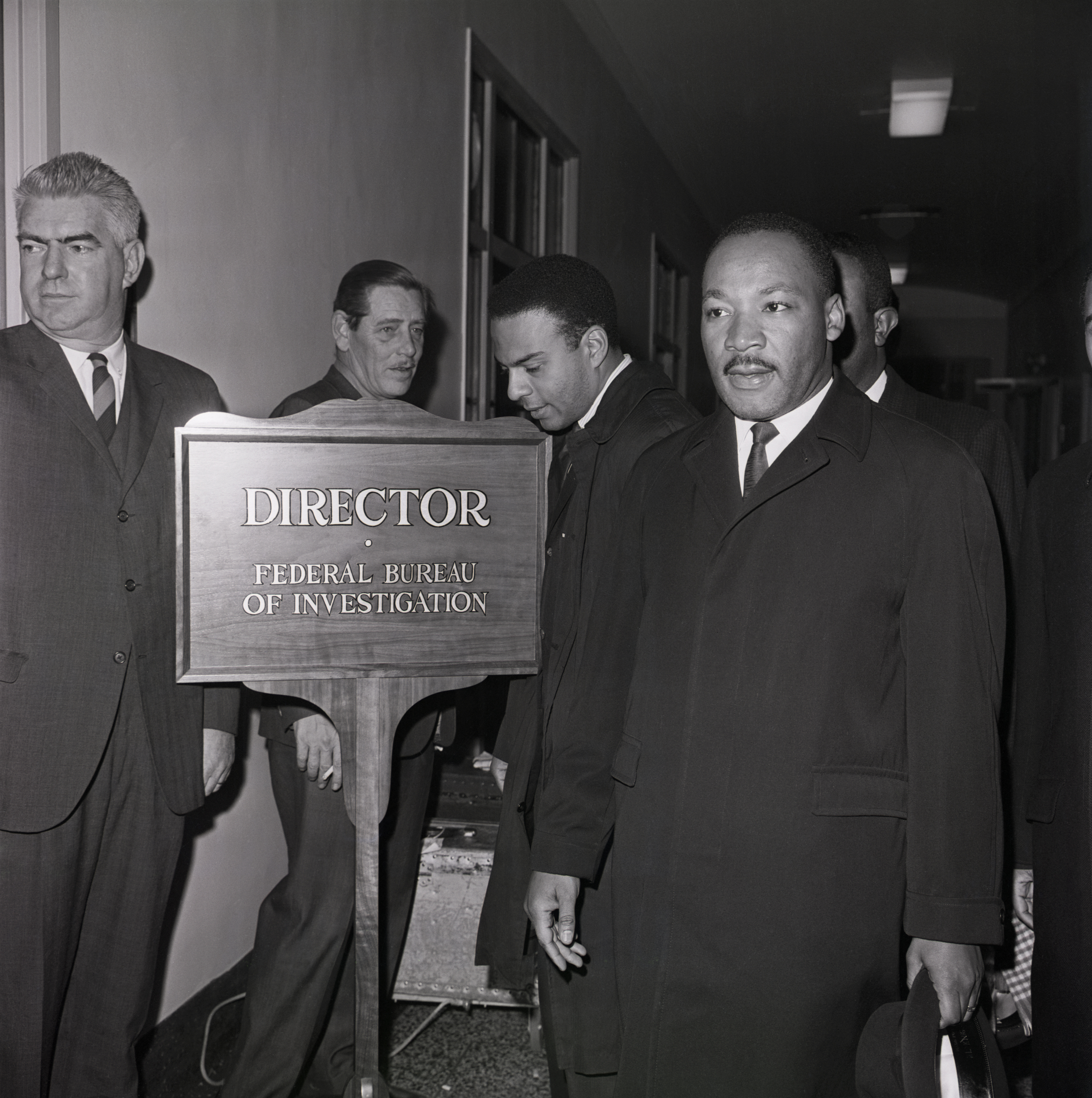 Martin Luther King Jr. at the Federal Bureau of Investigation to speak with director J. Edgar Hoover, who had recently called the civil rights leader a  notorious liar . The story of the FBI's surveillance and harassment of King is explored in the new documentary 'MLK/FBI'