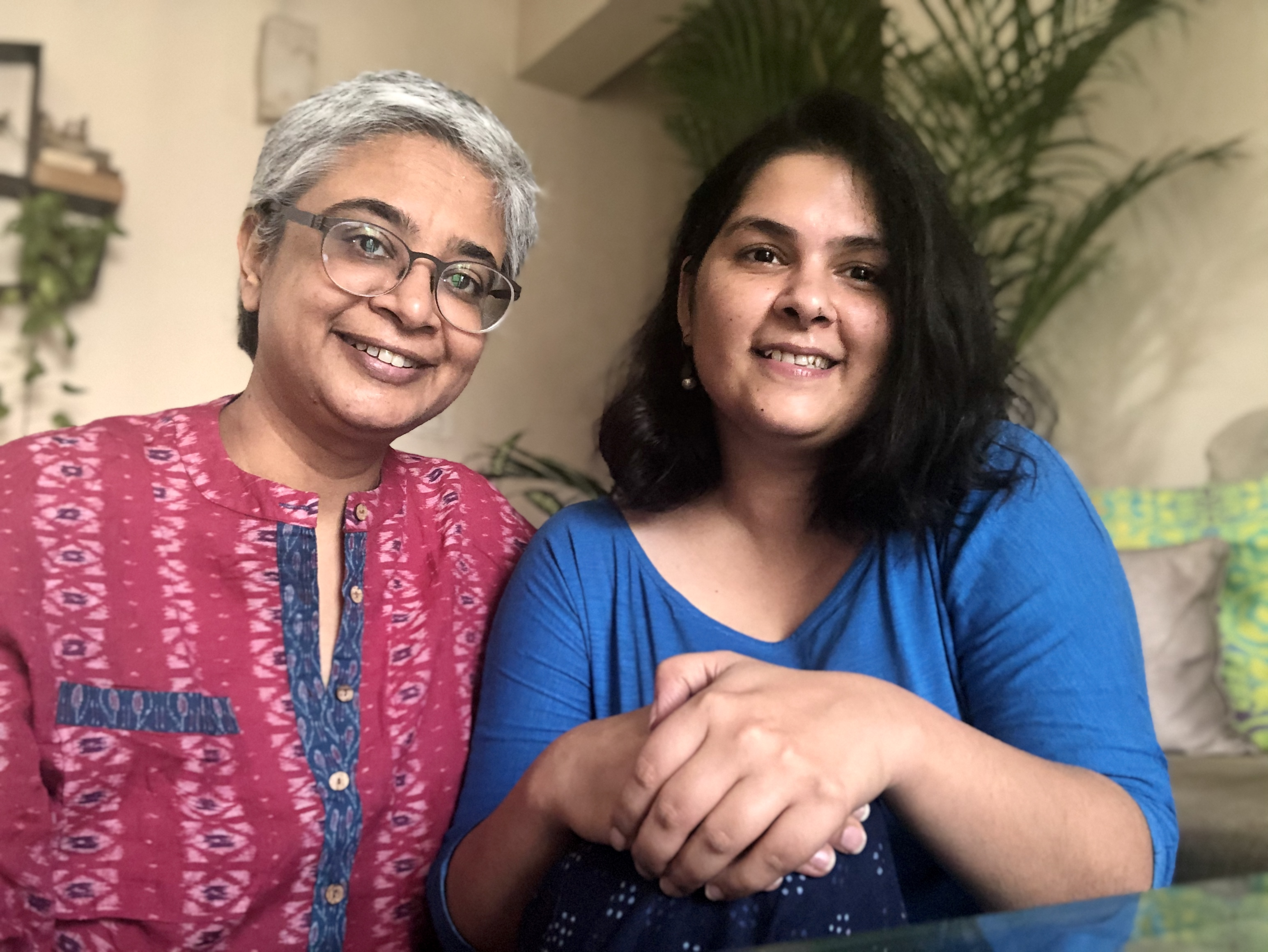 Kavita Arora (left) and Ankita Khanna (right) petitioned a Delhi court in October 2020 for the constitutional right to marry—arguing that without official recognition, they are  strangers in law.