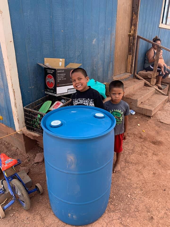 Water Warriors United delivers clean water to families in the Navajo Nation.