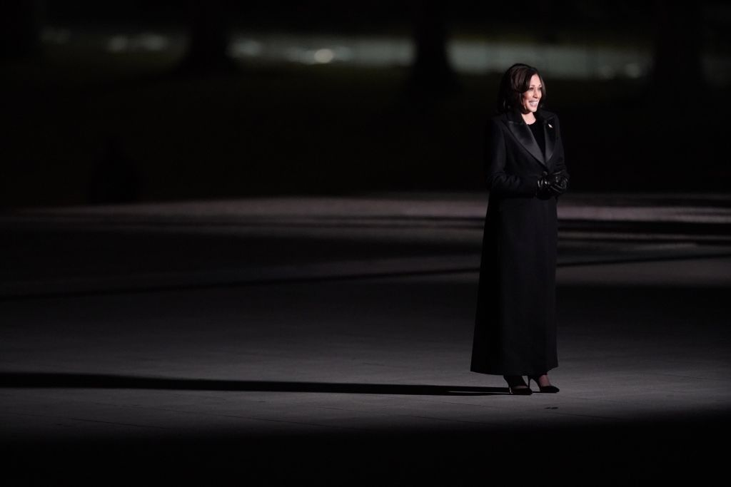 Kamala Harris addresses the nation during a  Celebrating America  event at the Lincoln Memorial following the 59th presidential inauguration in Washington, D.C., U.S., on Wednesday, Jan. 20, 2021.