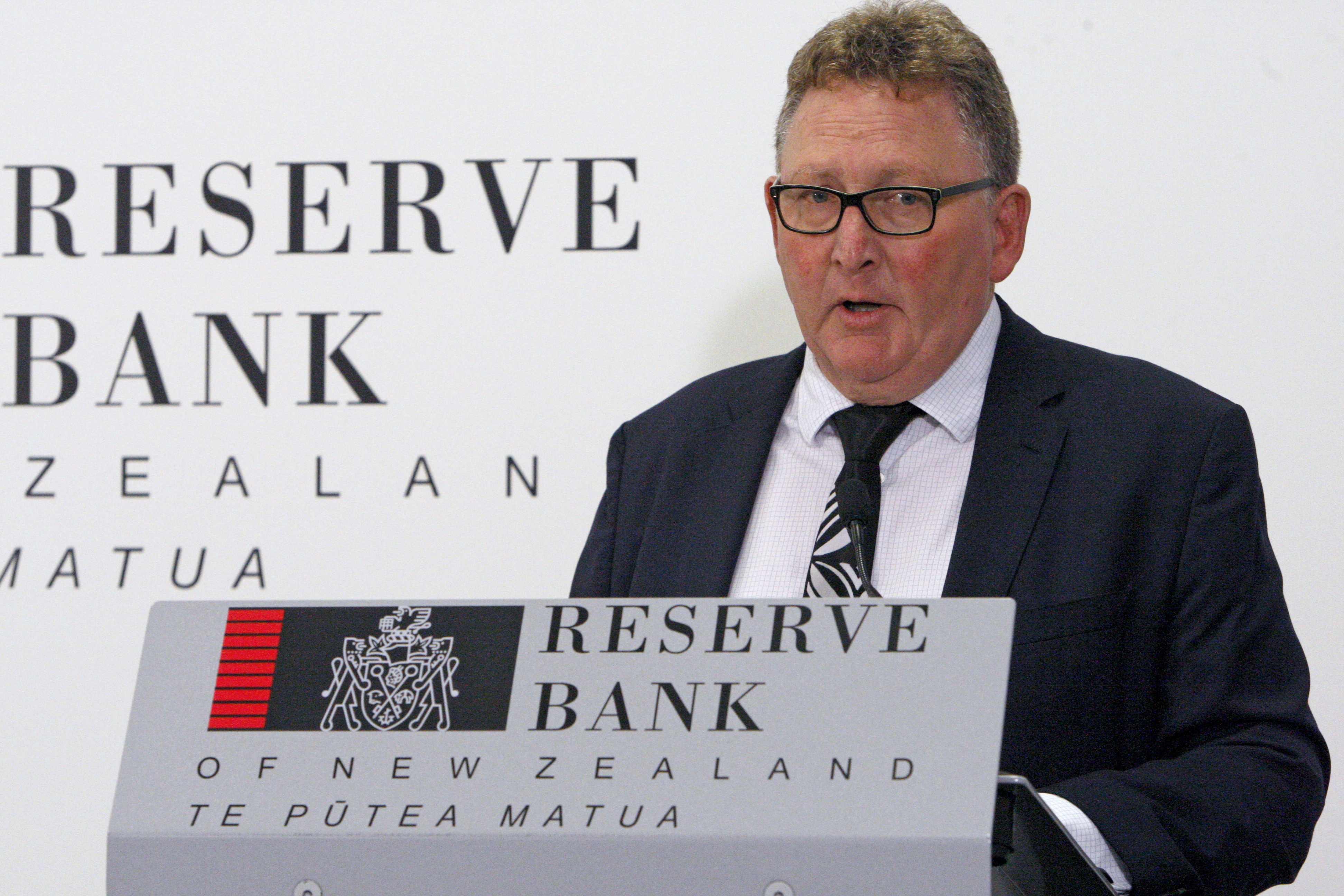 New Zealand's Reserve Bank Governor Adrian Orr speaks to the media in Wellington, New Zealand, on May 8, 2019.