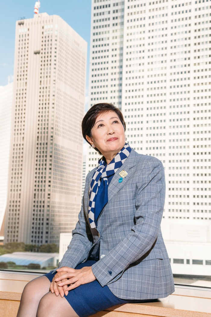 Yuriko Koike is a Japanese politician who currently serves as the Governor of Tokyo. Photographed OK!location is Tokyo Metropolitan Government Building, and the day is Sep 25 2019.
