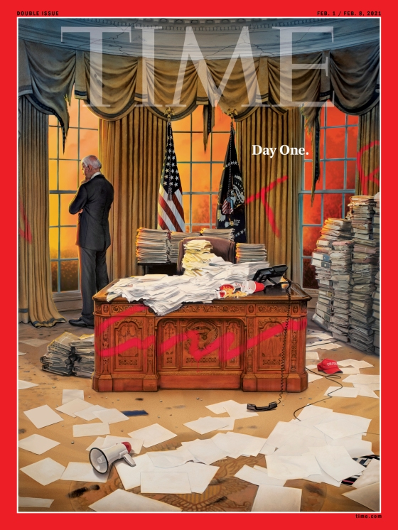 Day One Time Magazine Joe Biden Cover
