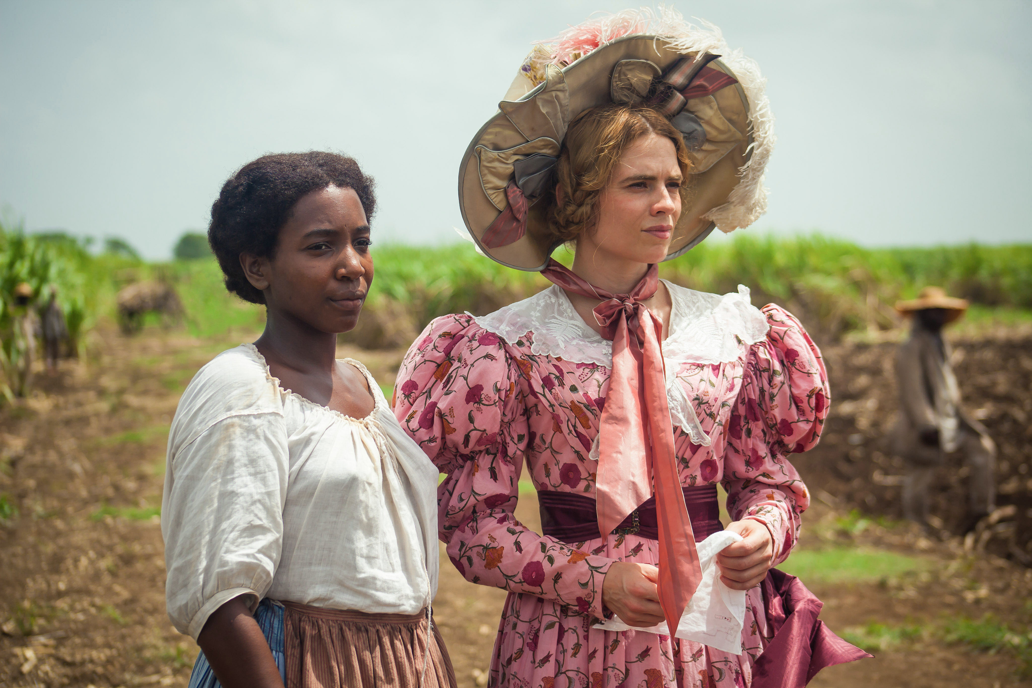 Tamara Lawrance (left) and Hayley Atwell in 'The Long Song'