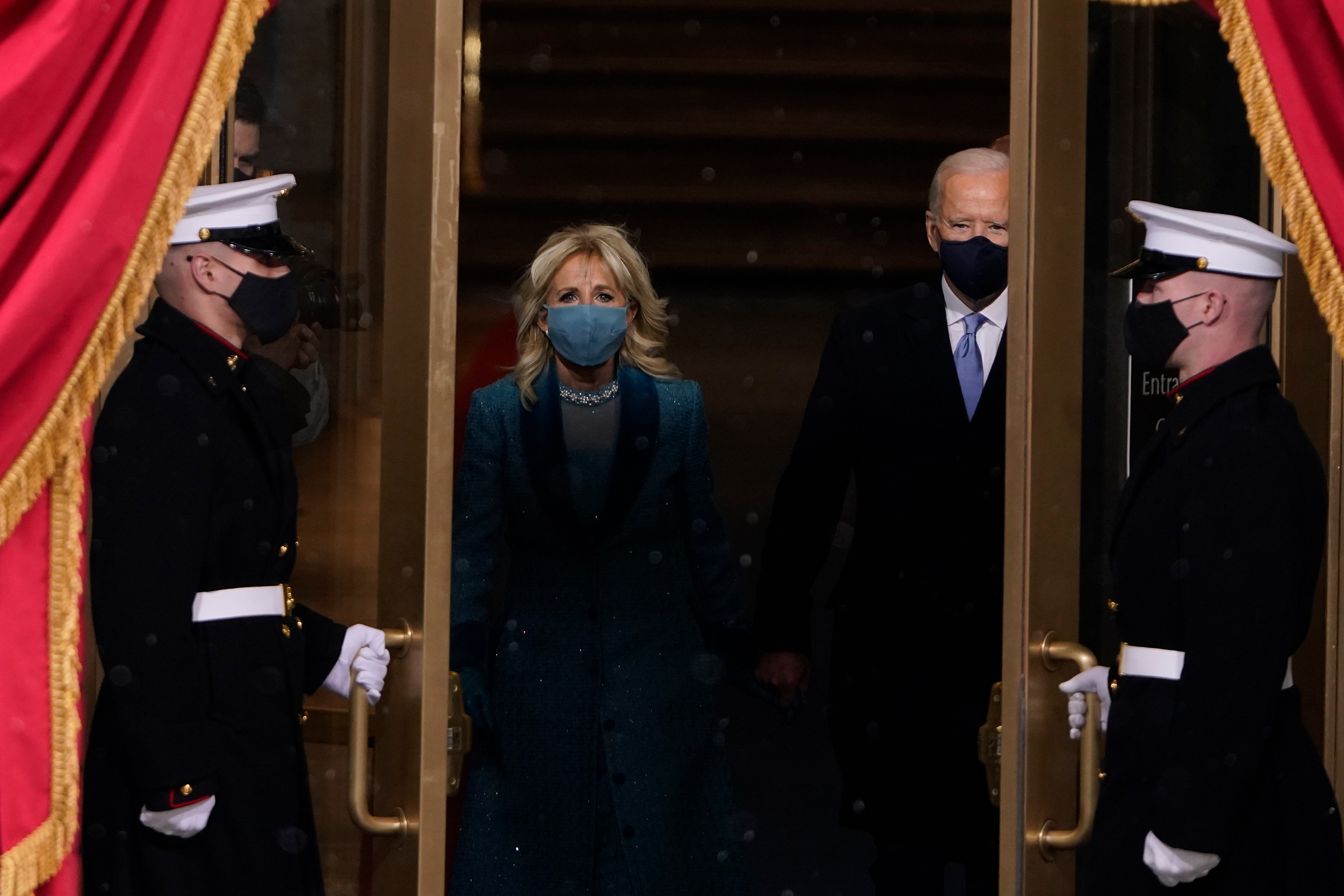 President-elect Joe Biden and his wife Jill, walk out for the 59th Presidential Inauguration.