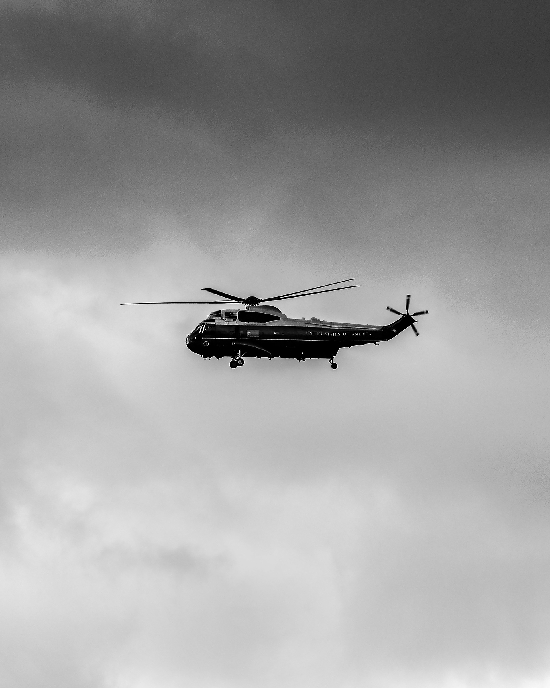 Marine One circles the National Mall carrying President Donald Trump as he departs the White House ahead of the inauguration.