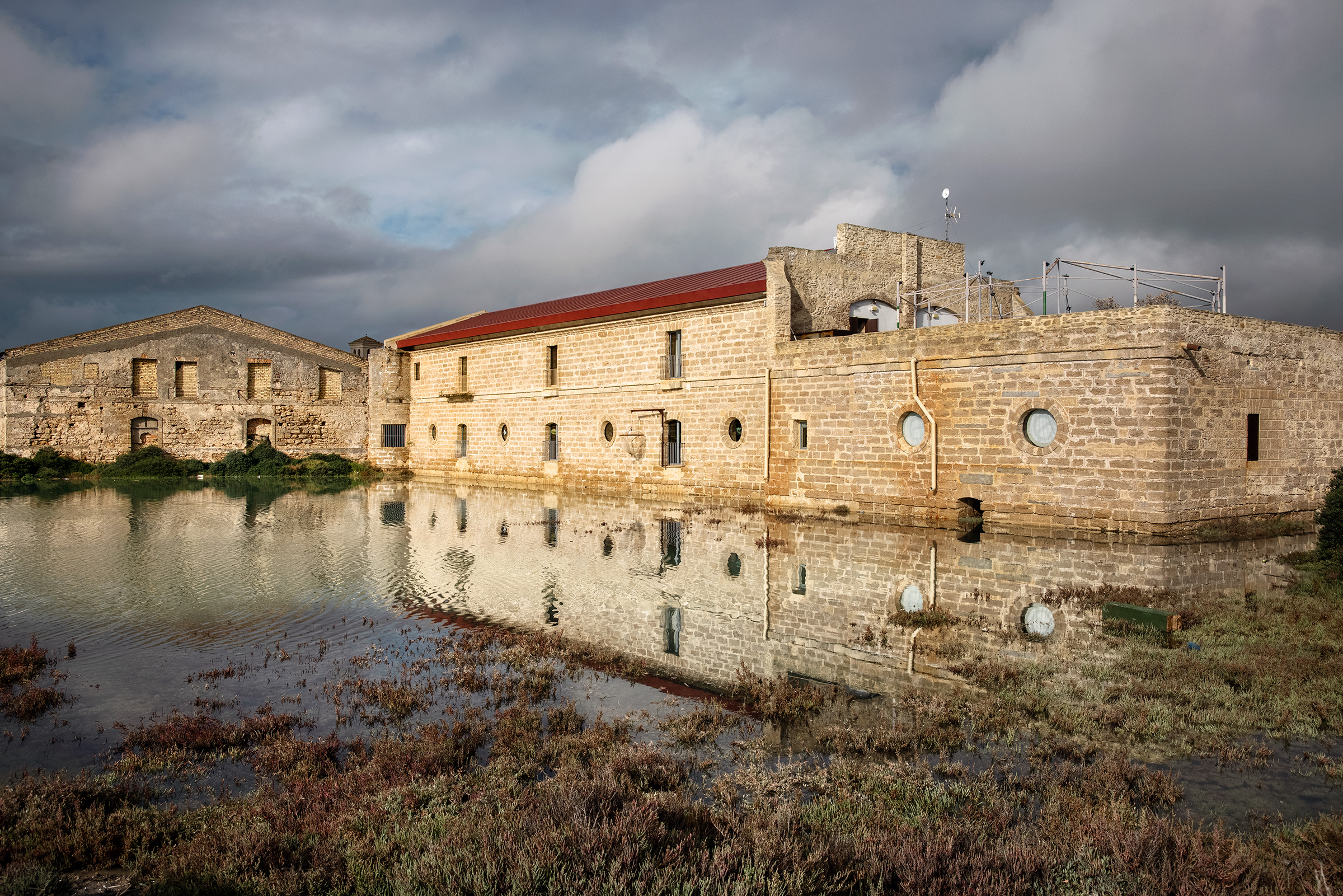 León's Aponiente restaurant, in a centuries-old mill, surrounded by the estuary where he will cultivate his underwater garden