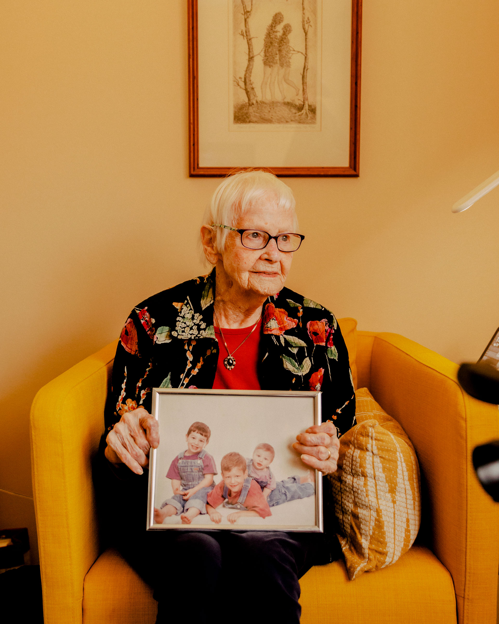 Ronnel, 92, hopes the vaccine will allow her to embrace her children and grandchildren, whom she hasn't seen in person since the fall