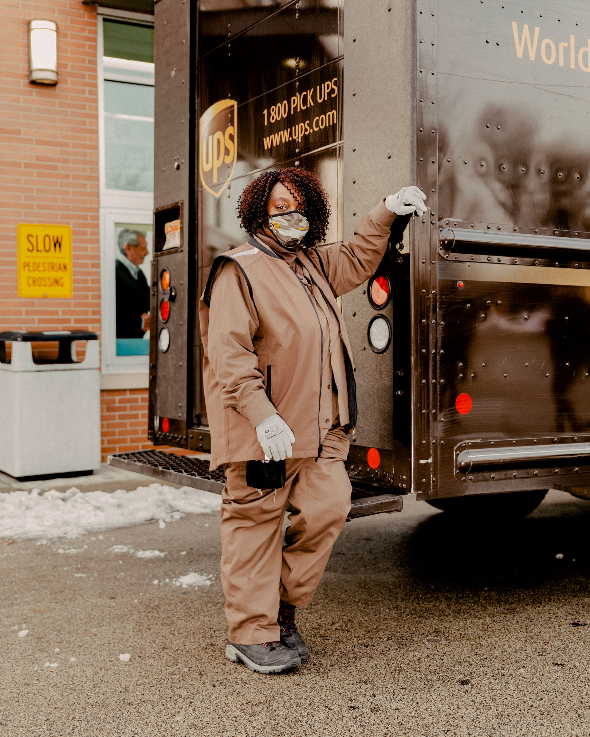 """I never thought I'd be part of a historic project like this,"" says UPS driver Regina Vaughan after delivering her first box of COVID-19 vaccines to a Chicago-area Walgreens on Jan. 6"