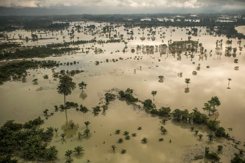 A view of the vast flooding in Guatemala, after Hurricanes Eta and Iota struck one after the other, on Nov. 26, 2020.