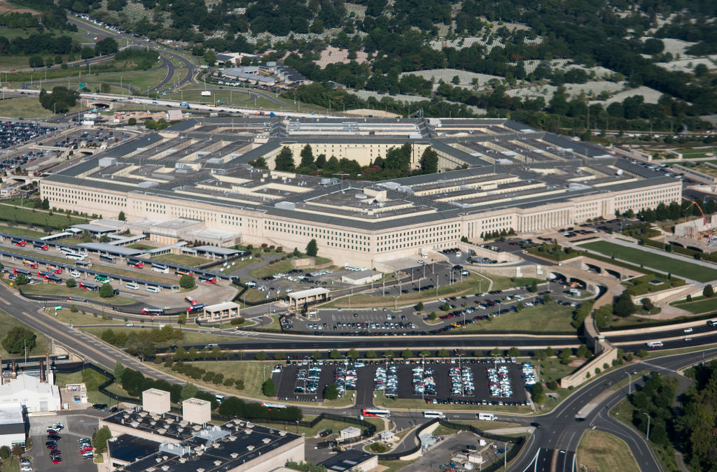 UNITED STATES - AUGUST 29: Aerial view of the Pentagon building.