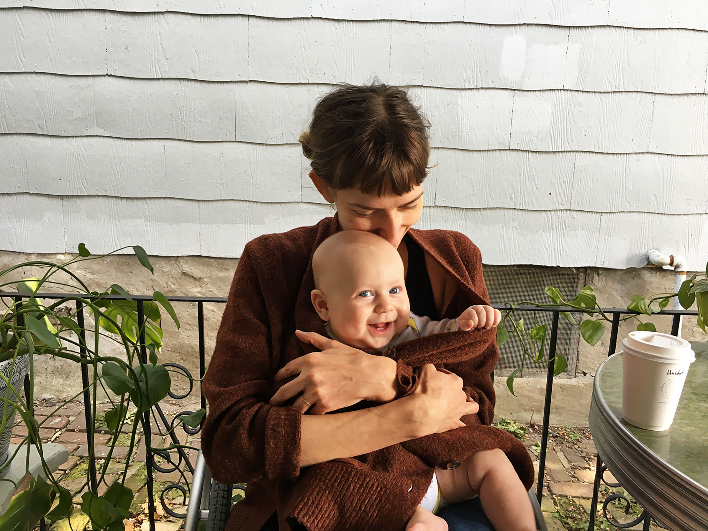 The author with her baby Otto in September.