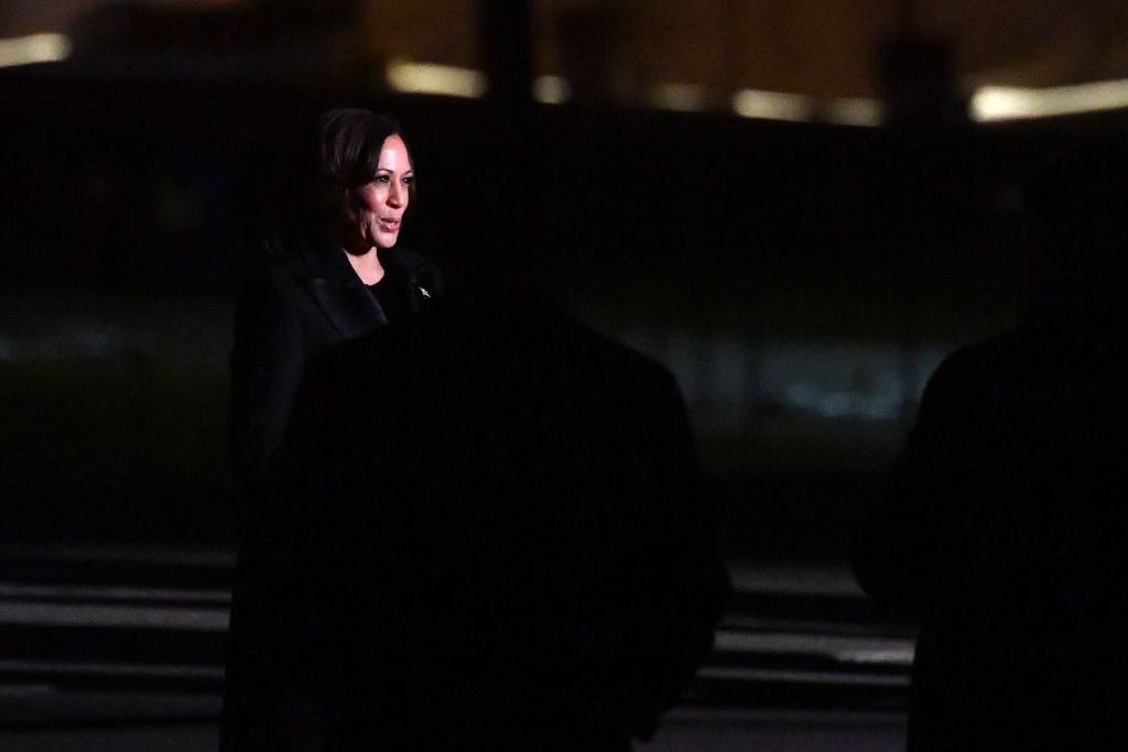 Vice President Kamala Harris speaks during the  Celebrating America  inaugural program at the Lincoln Memorial in Washington, D.C., on Jan. 20, 2021, after being sworn in at the U.S. Capitol earlier in the day.