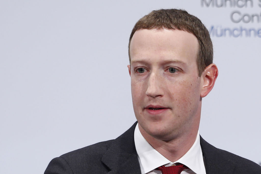 Mark Zuckerberg, CEO of Facebook Inc., at the Munich Security Conference in Munich, Germany, on Feb. 15, 2020.