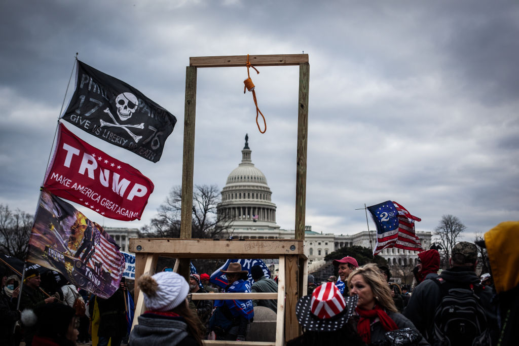 Trump supporters near the U.S Capitol, on January 06, 2021 in Washington, DC.