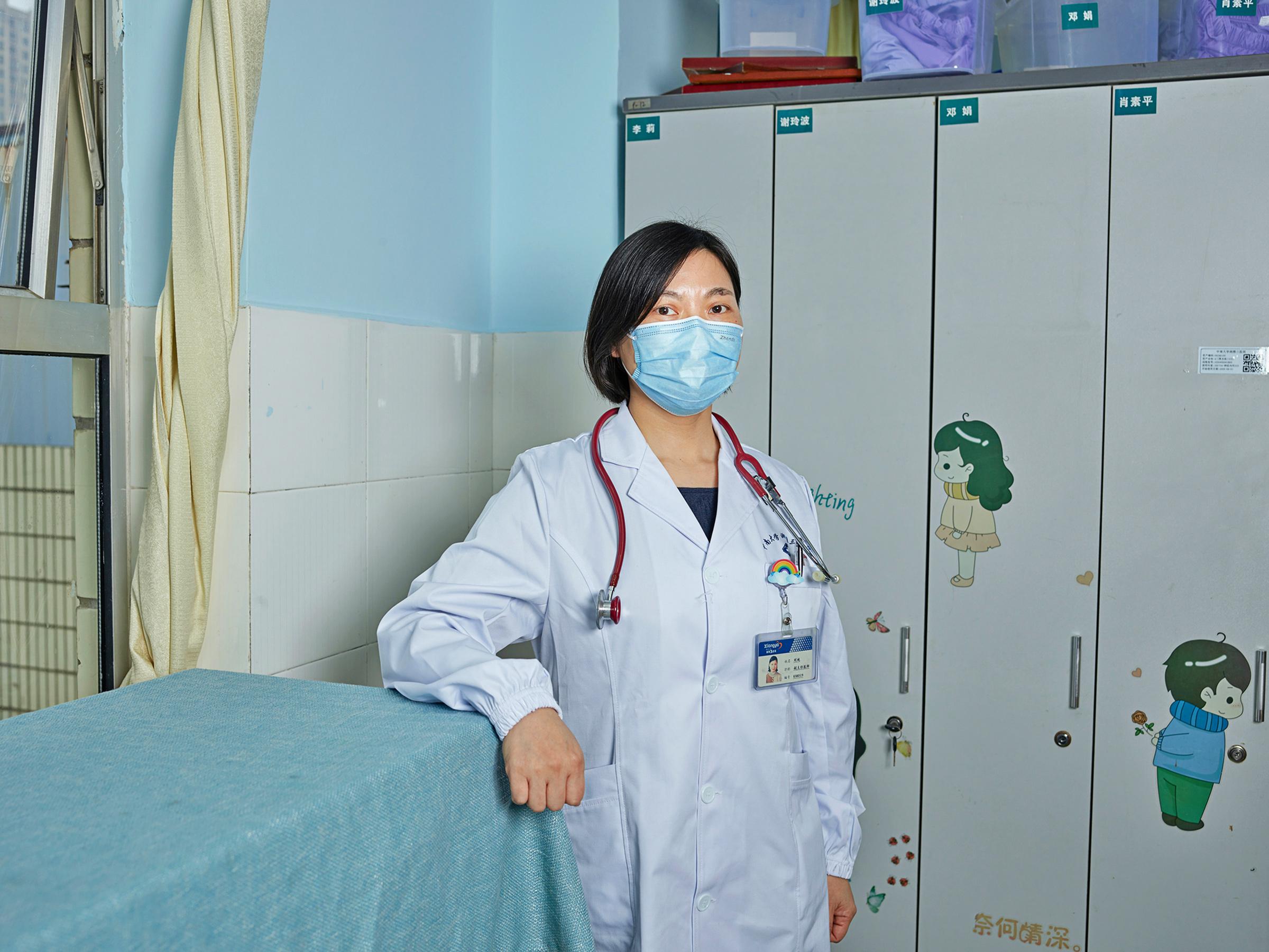 Portrait of Dr. Liu Chun at Hunan Xiangya Hospital in Changsha, China, on Dec. 1, 2020