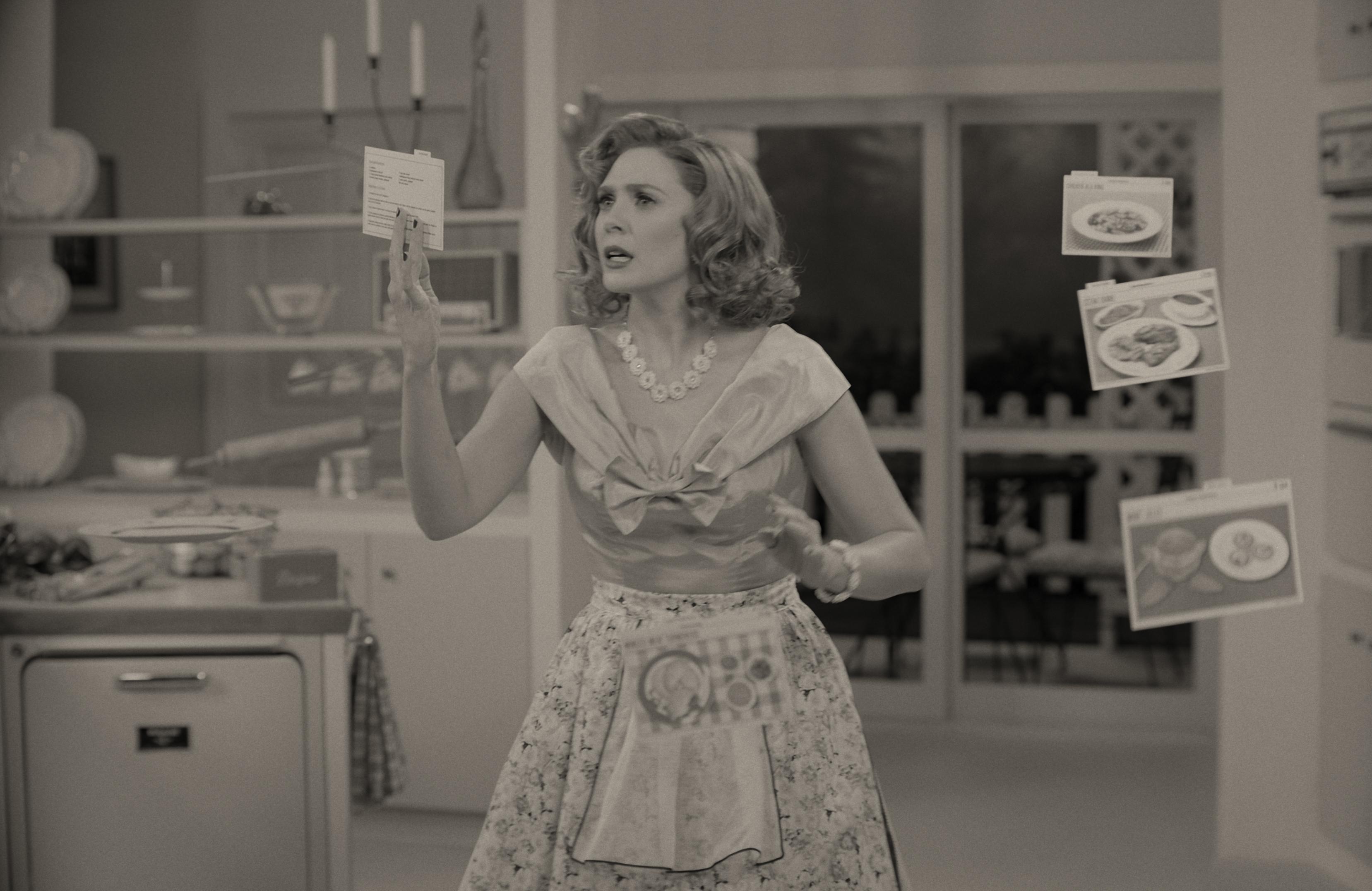 Elizabeth Olsen as Wanda in WandaVision