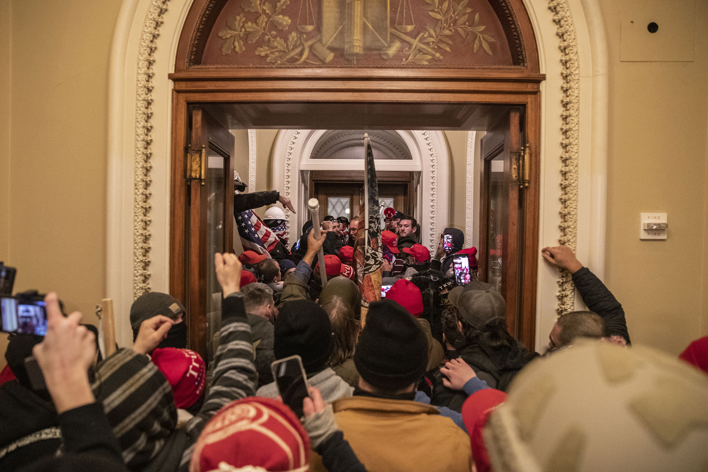 A mob of pro-Trump extremists breach the Capitol during a joint session of Congress to certify the 2020 election results in Washington, on Jan. 6.