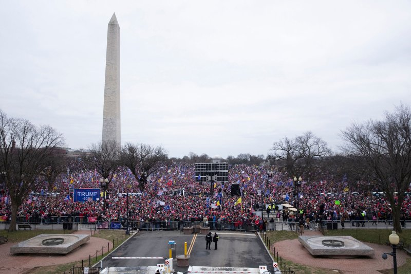 Supporters of President Donald Trump gather on the National Mall during a rally near the White House in Washington, on Jan. 6, 2021.