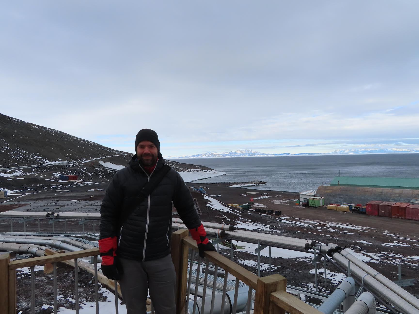 Pedro Salom at McMurdo Station