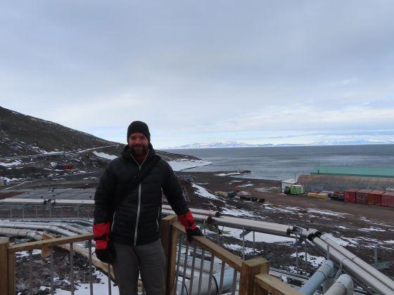 Pedro Salom at McMurdo Station