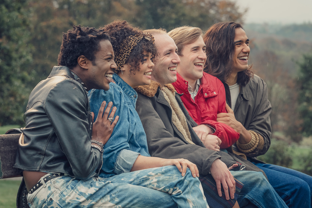 L-R: Omari Douglas, Lydia West, David Carlyle, Calum Scott Howells, and Nathaniel Curtis in 'It's a Sin'