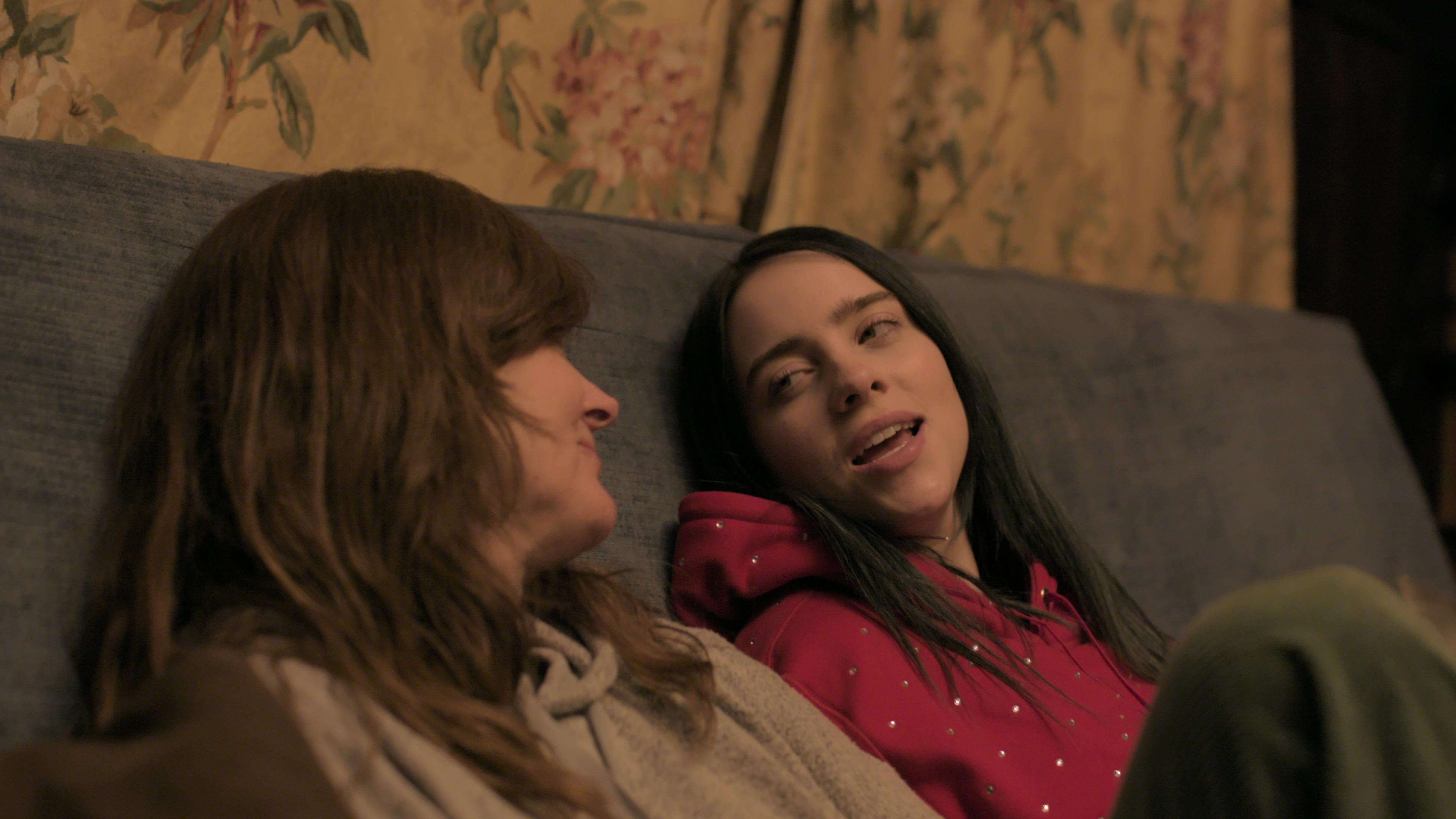 Maggie Baird, left, and Billie Eilish in 'Billie Eilish: The World's a Little Blurry'