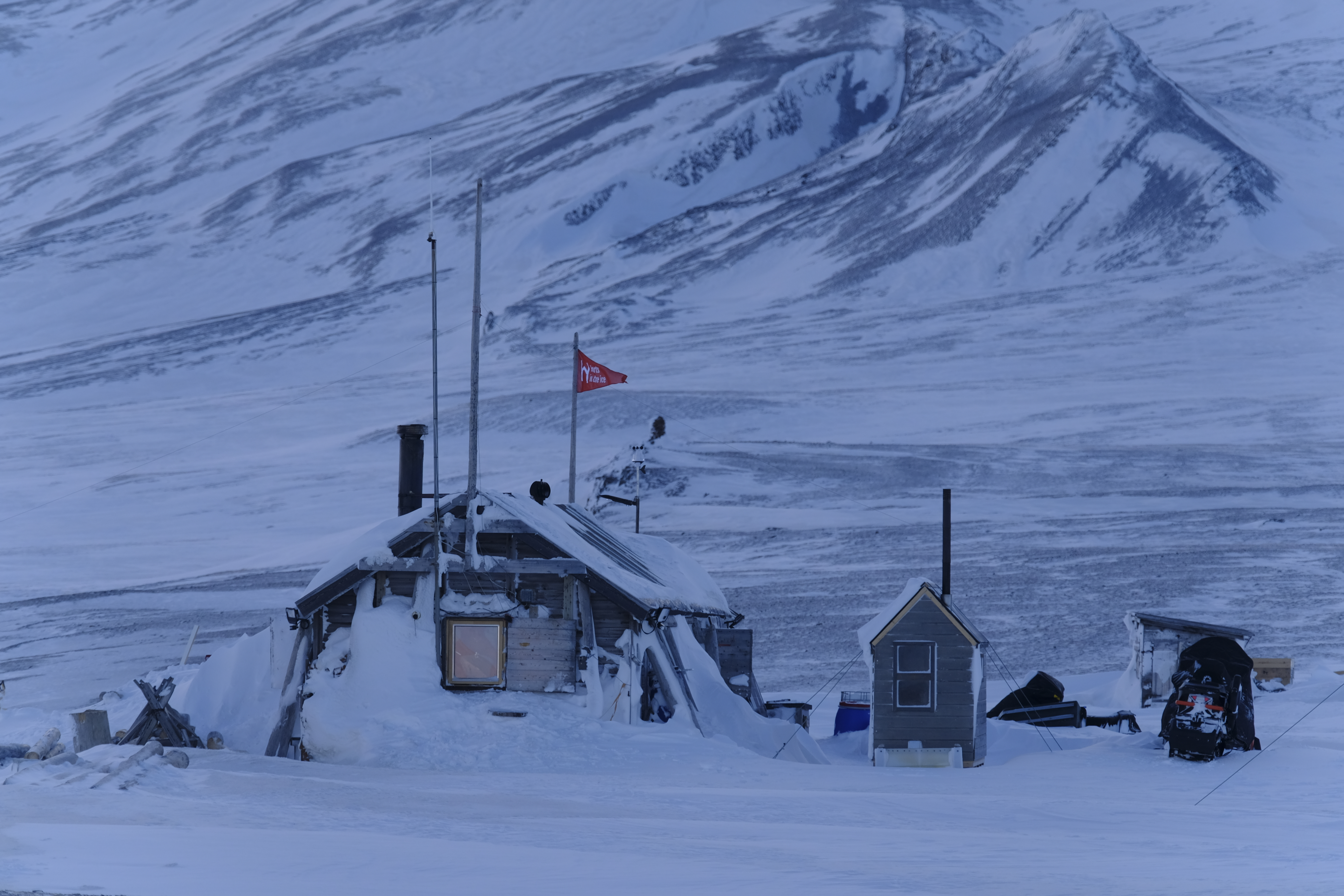 Sunniva Sorby and Hilde Fålun Strøm's cabin in Svalbard, Norway.