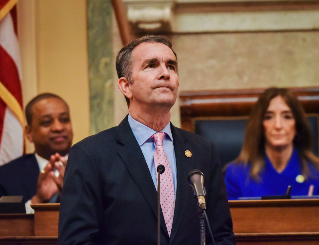 Virginia Gov. Ralph Northam addresses a joint session of the Virginia General Assembly in Richmond, Va., on Jan. 8, 2020.
