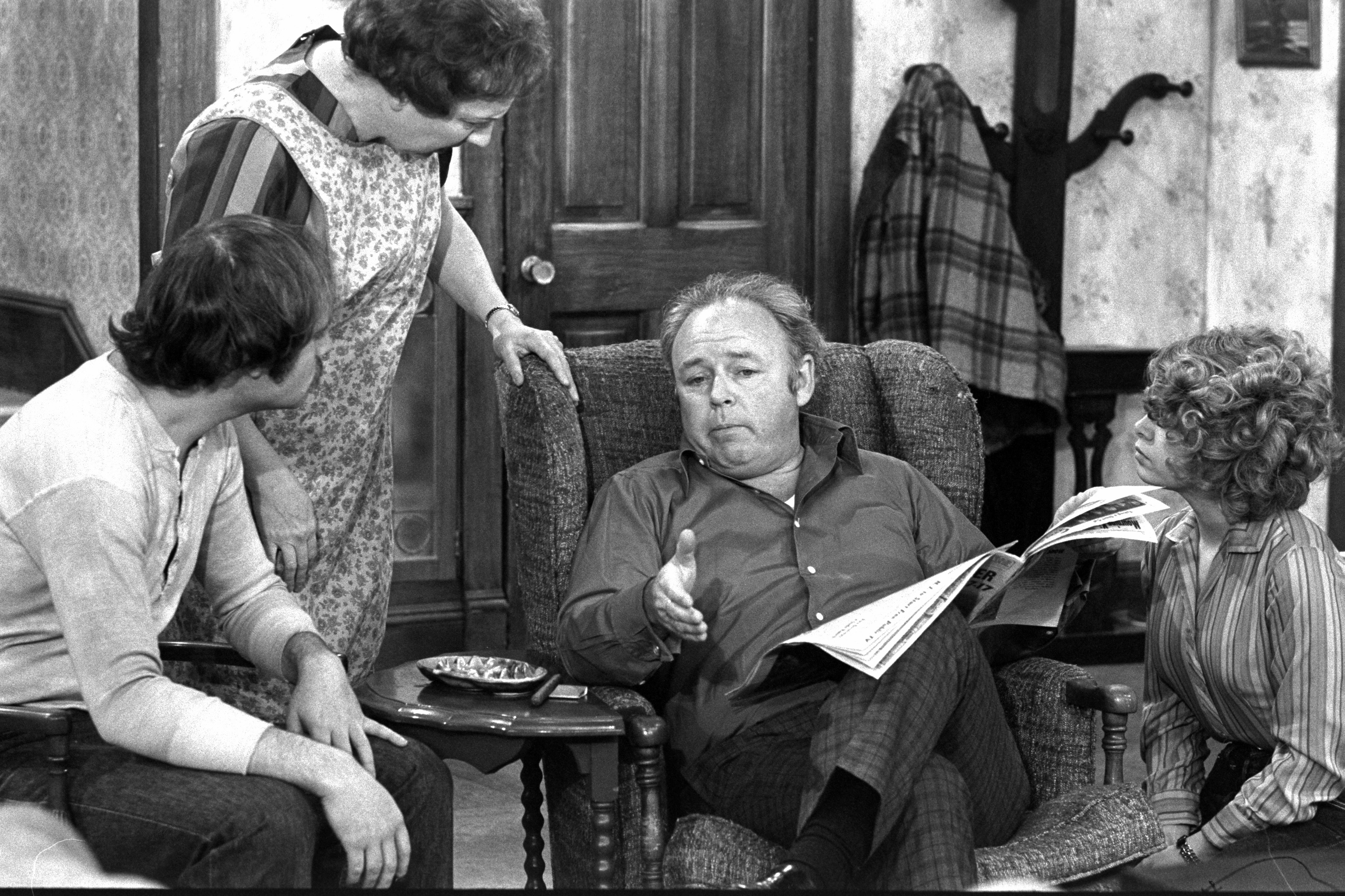 A scene from the third episode of  All in the Family,   Archie's Aching Back,  which aired on Jan. 26, 1971
