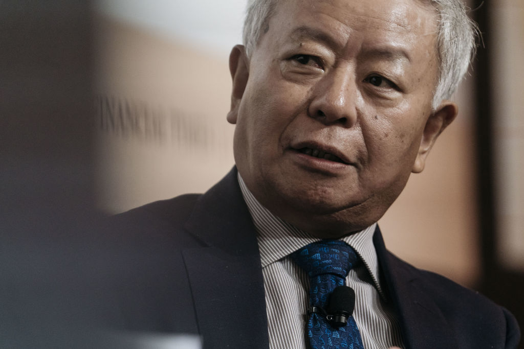 Jin Liqun, the president of the Asian Infrastructure Investment Bank (AIIB), pictured in November 2017,