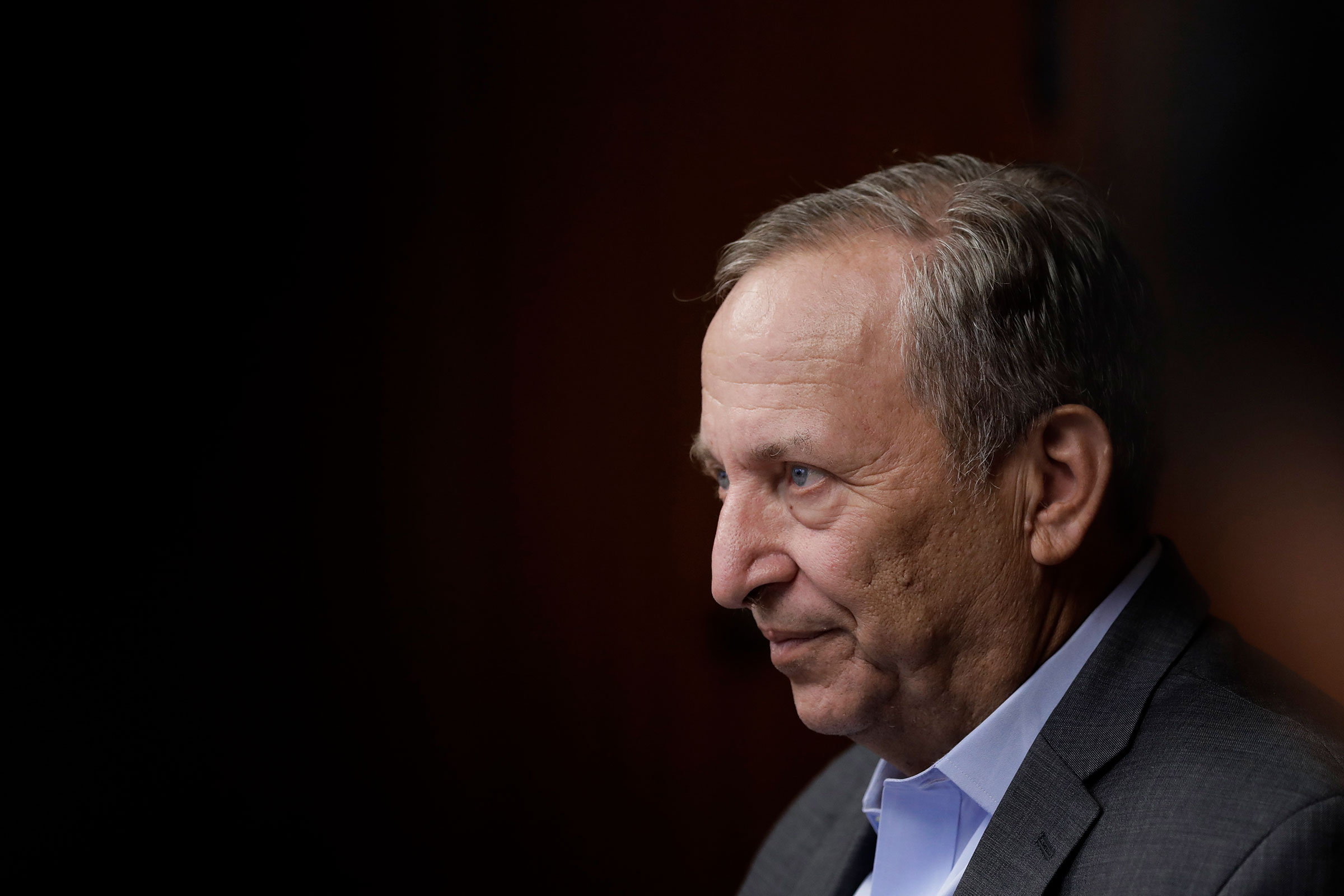 Larry Summers, former U.S. Treasury secretary, listens during a question-and-answer session with the media at a workshop in Tokyo, on Sept. 30, 2016.