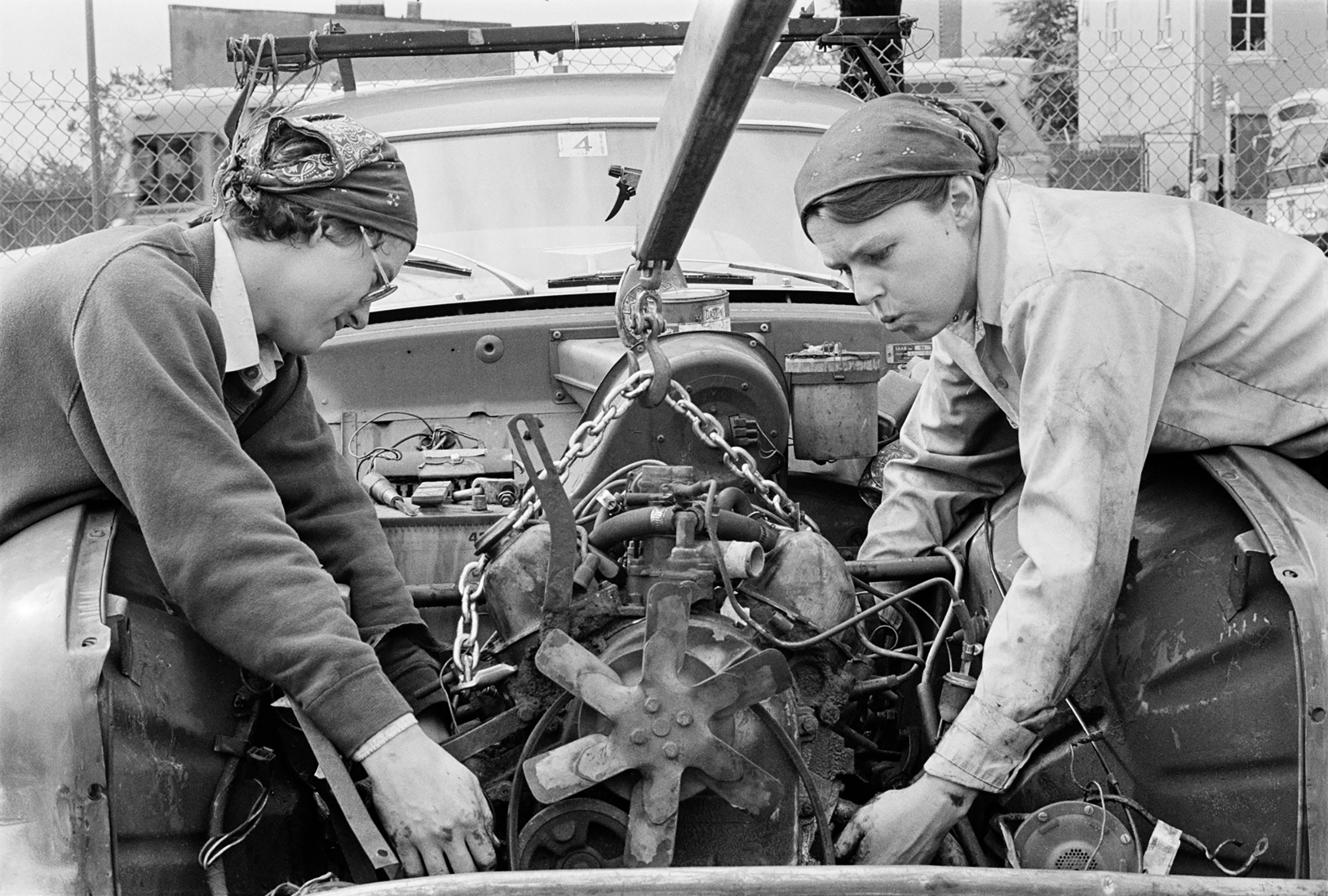 There is all this intimidating stuff around cars, because cars represent the power of being able to cope and get around in the world. If you know how to do that, you begin to realize how much more you can do. You can do anything you want.  Valerie Mullen and Lori. Washington, D.C., 1978.