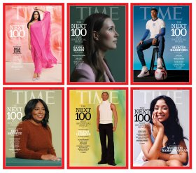 Time 100 Next cover grid