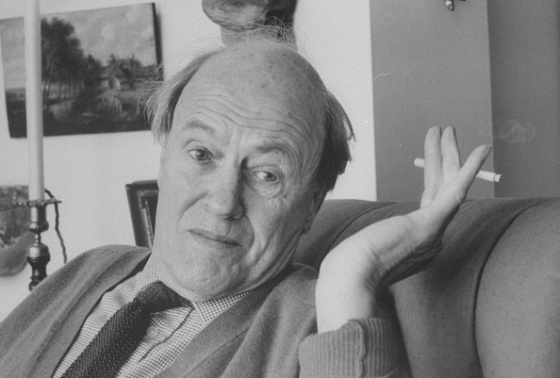 Closeup candid portrait of writer Roald Dahl waving a cigarette while talking at home. (Photo by Ian Cook/The LIFE Images Collection via Getty Images/Getty Images)