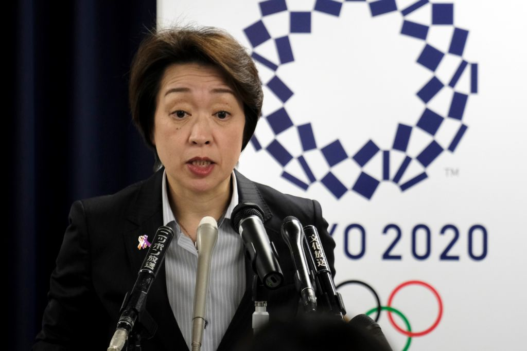 Seiko Hashimoto, Minister for the Tokyo Olympic and Paralympic Games, speaks during a press conference in Tokyo on March 17, 2020.