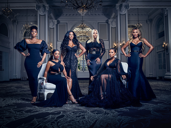 The Real Housewives of Atlanta Season 12 - Pictured: (l-r) Porsha Williams, Kandi Burruss Tucker, Kenya Moore, NeNe Leakes, Eva Marcille, Cynthia Bailey