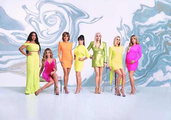 The Real Housewives of Beverly Hills Season 10 - Pictured: (l-r) Garcelle Beauvais, Denise Richards, Lisa Rinna, Kyle Richards, Erika Girardi, Dorit Kemsley, Teddi Mellencamp Arroyave