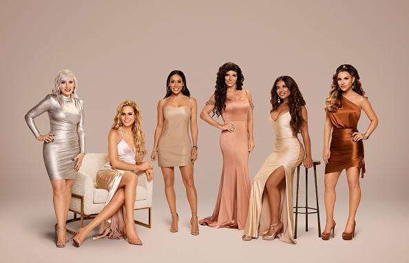The Real Housewives of New Jersey Season 11 - Pictured: (l-r) Margaret Josephs, Jackie Goldschneider, Melissa Gorga, Teresa Giudice, Dolores Catania, Jennifer Aydin